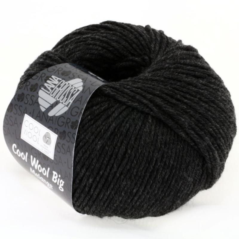 Cool Wool Big Mélange  618 Donker grijs