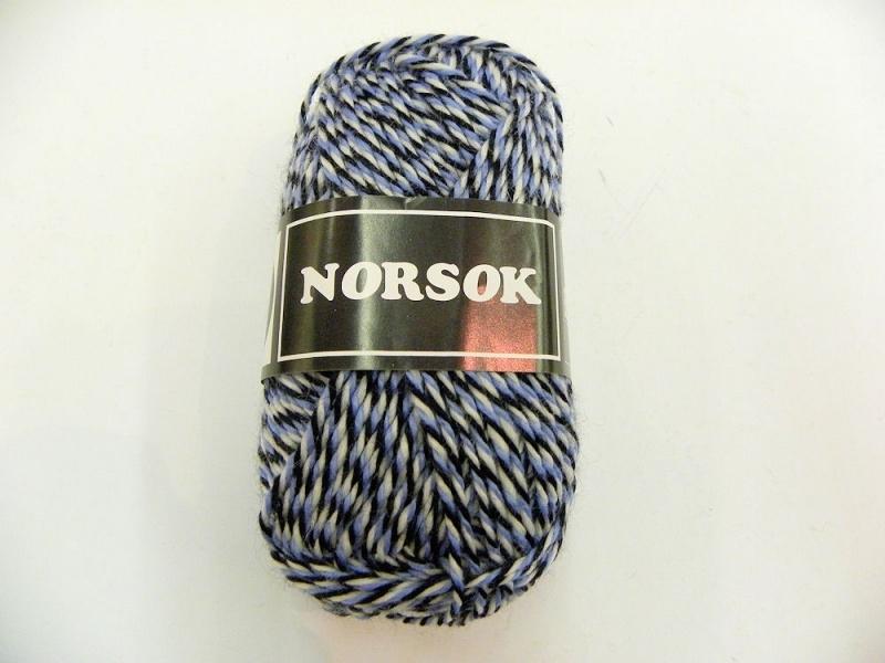 Norsok 6846 Blauw/ecru/zwart