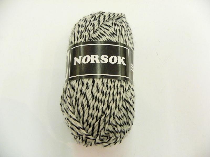 Norsok 6845  Zwart/ecru