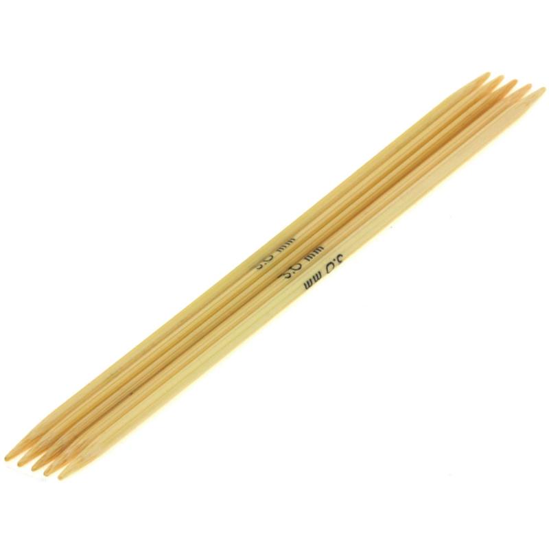 Breinaalden zonder knop bamboe dikte 3 - 20cm