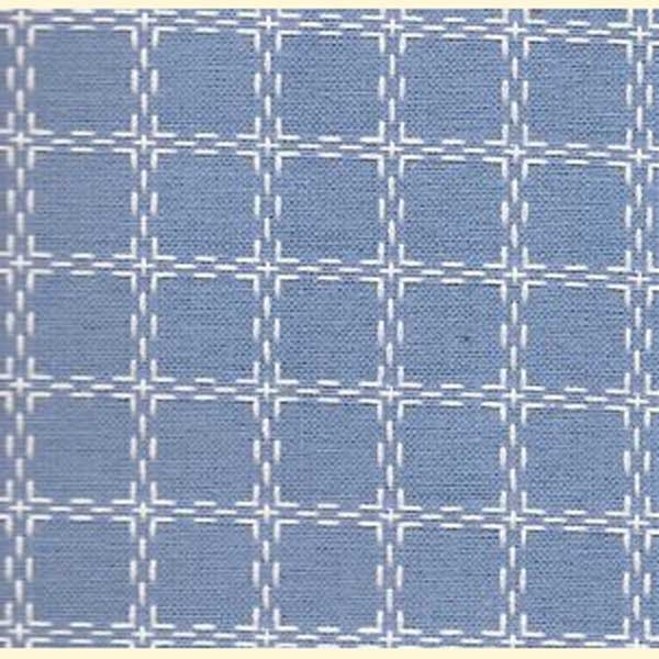 Beiersbont licht blauw met wit