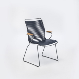 Houe click dining chair high back, dark blue (91)