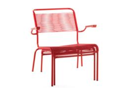 Spaghetti lounge  armchair rood