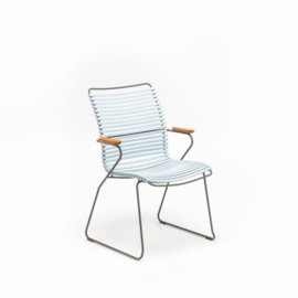 Houe click dining chair high back, Dusty Light Blue (80)