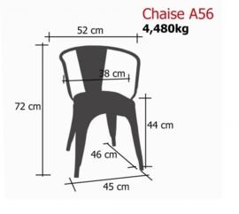 Tolix A56 stoel zwart