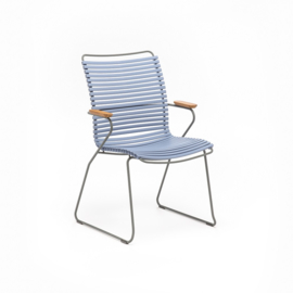 Houe click dining chair high back, pigeon blue (82)