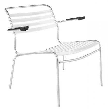 Schaffner Säntis lounge chair with arms white