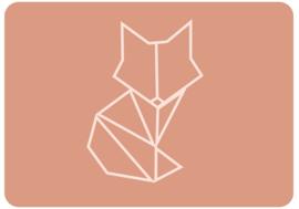 Mini kaartje   Geometrische Vos   8,5 x 5,5 cm