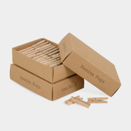 East of India | Houten knijpertjes in een gift box | 52 wooden pegs