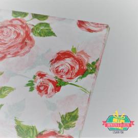 Tissuepapier | Rode rozen | 50 x 35 cm | 5 stuks