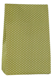 Ib Laursen blokbodemzak | Green Dots | 30,5 cm | per stuk