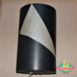 Kraft inpakpapier | Zwart | dubbelzijdig | 1 mtr x 30 cm
