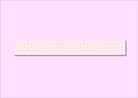 Only Happy Things washi tape | Madeliefjes | Roze | 10 mtr x 1,5 cm