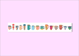 Only Happy Things washi tape | Kopjes | 10 mtr x 1,5 cm