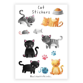 Only Happy Things stickervel | Cat | A5
