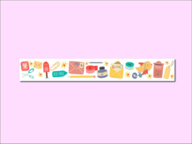 Only Happy Things washi tape | Snailmail | 10 mtr x 1,5 cm