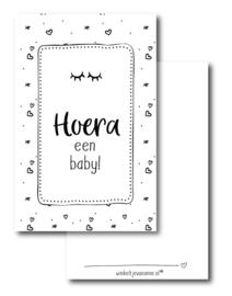 winkeltjevananne mini kaartje  | Hoera een baby! | oogjes | 9 x 5,5 cm