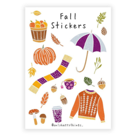 Only Happy Things stickervel | Fall  | A5