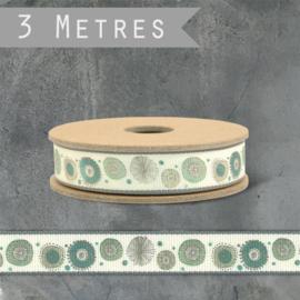 Rolletje lint | Spring Flowers  | Cream | 3 meter