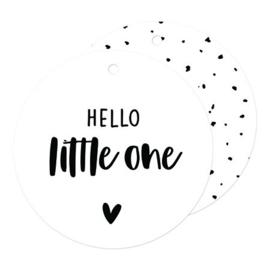 Hof je van Kieka kado label  | Hello little one  | 7,4 cm