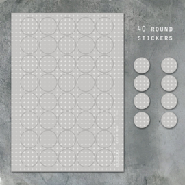 East of India Stickervel A4 | Small crosses | 3 cm | 40 stickers
