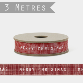 East of India lint | Merry Christmas | Rood | 3 meter
