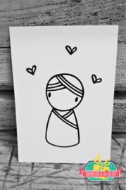 Irmadammeke mini kaartje | Jongen | 10,5 x 7,5 cm