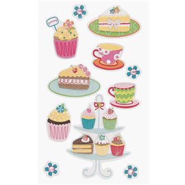 Paper Poetry 3D sticker - Cake  and Cupcakes