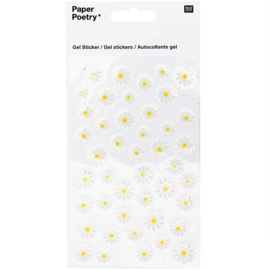 Paper Poetry gel stickers | Daisies | 44 stickertjes