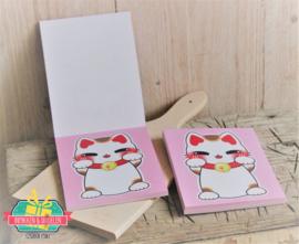 Kawaii | Memo Pad | Lucky Cat | 14 x 11 cm | 50 velletjes