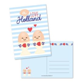 Studio Schatkist ansichtkaart A6 | Ei love Holland