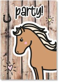 By Romi | Love Horses | Uitnodigingen kinderfeestje | per stuk