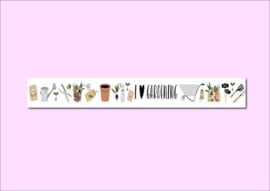 Only Happy Things washi tape | Tuinieren | 10 mtr x 1,5 cm