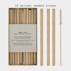 East of India | Box met bamboo straws with brush