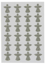 Ib Laursen stickervel | Glitter Angels | 24 stuks