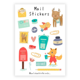 Only Happy Things stickervel | Mail | A5