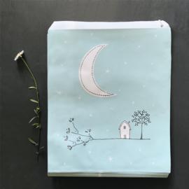 East of India kadozakje | The Moon | 25,4 x 21,2 cm | per stuk