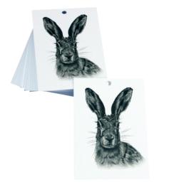 Cadeau label | Haas | 7 x 5 cm | per stuk