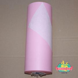 Kraft inpakpapier | Roze (doorschijnend) | dubbelzijdig | 1 mtr x 30 cm