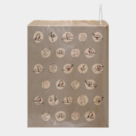 East of India kadozakje | Roodborstjes & Rozenbottels | | Grijs | 25,4 x 21,2 cm | per stuk