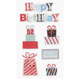 Paper Poetry 3D sticker | Happy Birthday