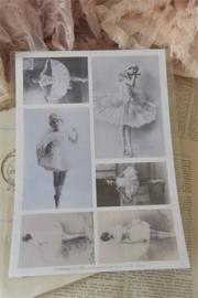 Jeanne d'Arc Living | A4 sheet | Sheet with nostalgic ballet girls