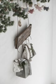 Ib Laursen blokbodemzak | Mistletoe |  Christmas | 22,5 cm | per stuk