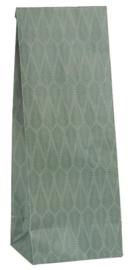 Ib Laursen blokbodemzak | Green Tapestry |  22,5 cm | per stuk