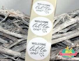 Sticker | Welcome little one | 4,5 cm | per 100 stuks