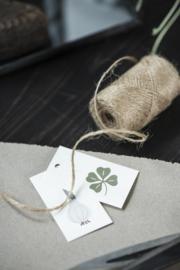 Ib Laursen labeltjes | Flowers | set van 8 verschillende | 6 x 3 cm