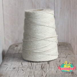 Jute touw | Off White | 5 meter x 3 mm