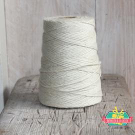 Jute touw   Off White   5 meter x 3 mm