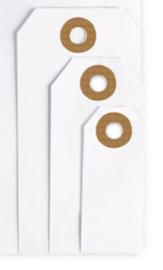 Manilla labels   Wit   9 x 4,4 cm   per stuk