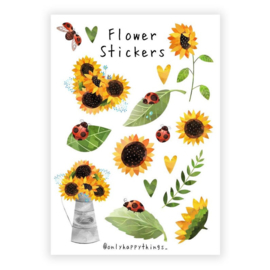 Only Happy Things stickervel | Flowers | A5